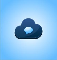 Speech cloud bubble concept design vector image vector image