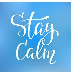 Stay calm quote typography vector