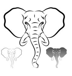 stylized elephant head vector image