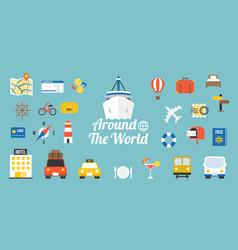 travel around the world typographic vector image vector image