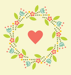 valentine s day greeting card symbol of love vector image