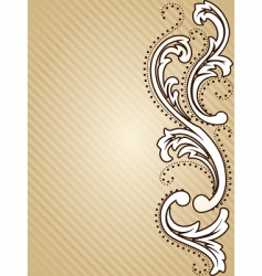 vertical vintage sepia background vector image vector image
