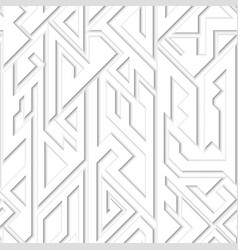 White geometric seamless pattern vector