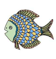 Zentangle fish vector