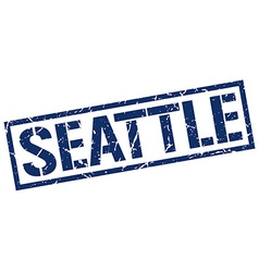 Seattle blue square stamp vector