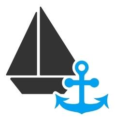 Marine Flat Icon vector image