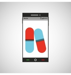 Smartphone pharmacy service app vector