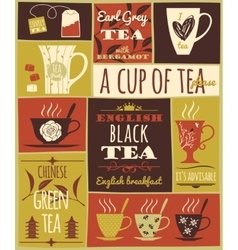 Tea collection vector