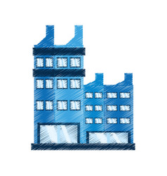 drawing building corporate icon vector image