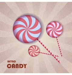 Retro candy vector