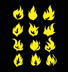 Fire flames icons in vector