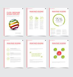 Set of modern brochure flyer design templates vector