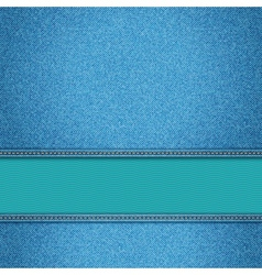 Realistic denim background vector