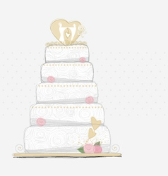 Wedding cake design vector