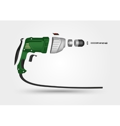 Electric drill in details vector