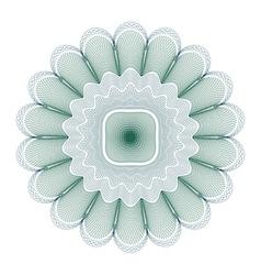 green guilloche rosette vector image