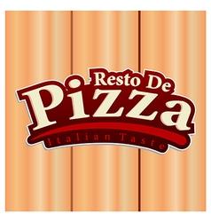 Pizza restaurant logo vector