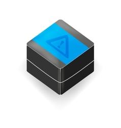 Black 3d cube vector image