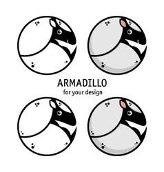 Armadillo icon vector image vector image
