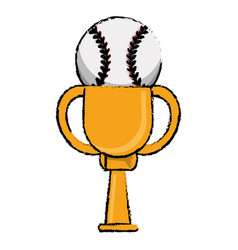 Baseball award cup sport win vector