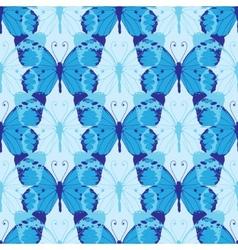 blue butterflies seamless pattern vector image