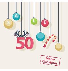 Christmas Sale shop poster design vector image vector image