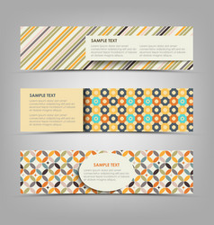 Collection retro banners with different color vector