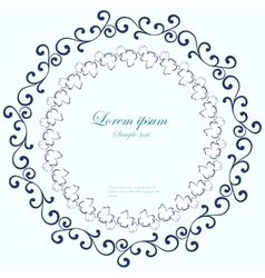 Decorative round frame abstract floral ornament vector