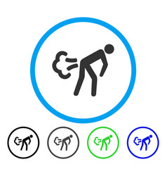 Fart rounded icon vector
