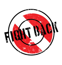 Fight back rubber stamp vector