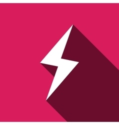 Flat Lightning icon vector image