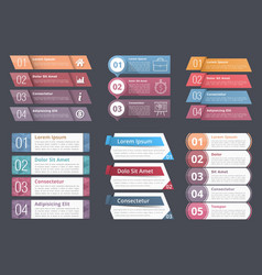 Infographic elements with numbers and text vector