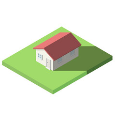 Isometric of house on the grass for icon vector