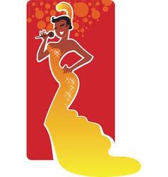 jazz singer vector image
