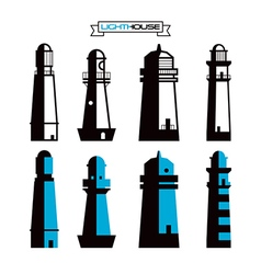 Lighthouse badges vector