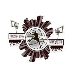 Logo basketball league vector