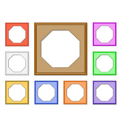 modern frame-octagon01 vector image vector image