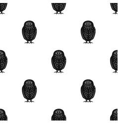 Owlanimals single icon in black style vector