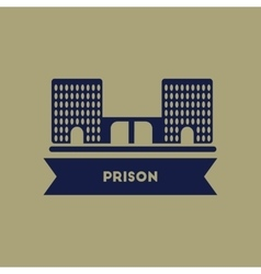 Prison building vector