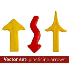 Set of plasticine arrows for your design vector image vector image