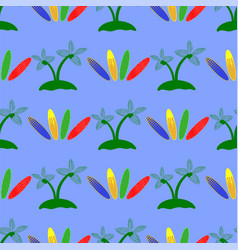 set of surfboards seamless sport pattern vector image
