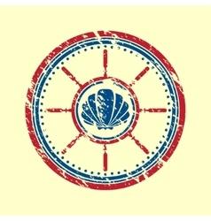 Shell symbol grunge vector