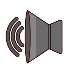 speaker sound icon image vector image vector image