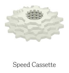 speed cassette icon isometric 3d style vector image