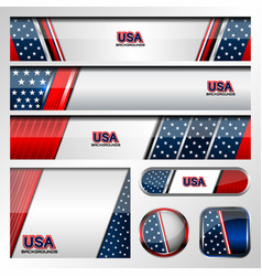 usa color background vector image vector image