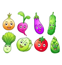 vegetable cartoon vector image