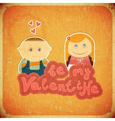 Vintage Design Valentines Day Card vector image