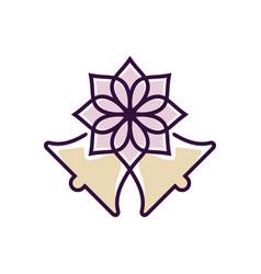 wedding flower vector image
