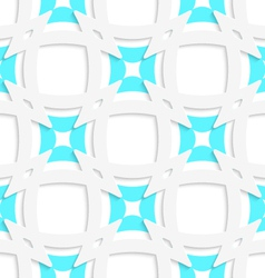 White pointy squares with blue inner part seamless vector