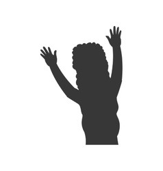 Woman silhouette female avatar person people icon vector image